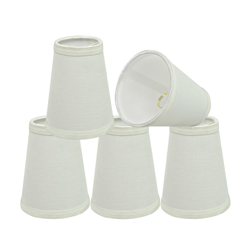 4 in. x 5 in. Off White Hardback Empire Lamp Shade (5-Pack)