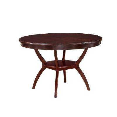 Oswell Cherry Built-In Storage Dining Table