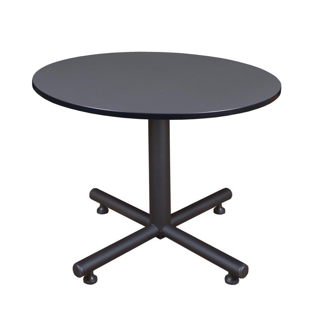 Regency Kobe Grey 48 in. Round Breakroom Table TKB48RNDGY