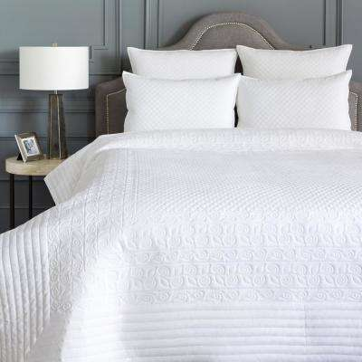 Josephine White King/CA King Duvet Set