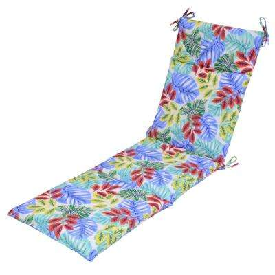 Multi Tropical Outdoor Chaise Lounge Cushion