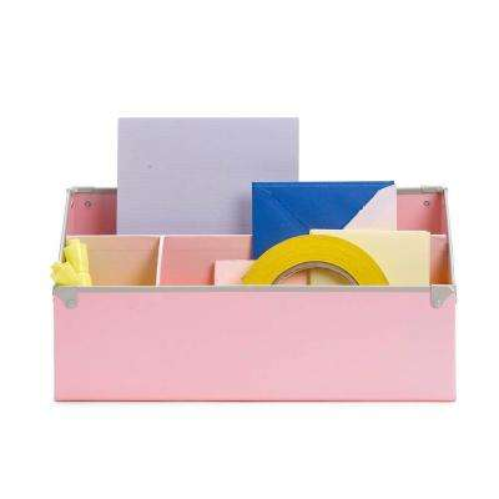 Frisco Desk Organizer, Pink/Fog