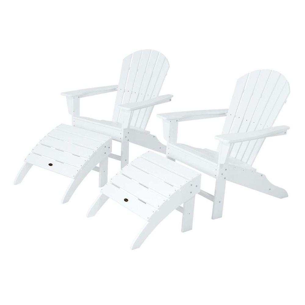 POLYWOOD South Beach White Patio Adirondack Chair (2-Pack)