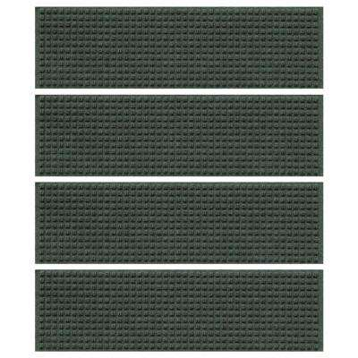 Evergreen 8.5 in. x 30 in. Squares Stair Tread Cover (Set of 4)