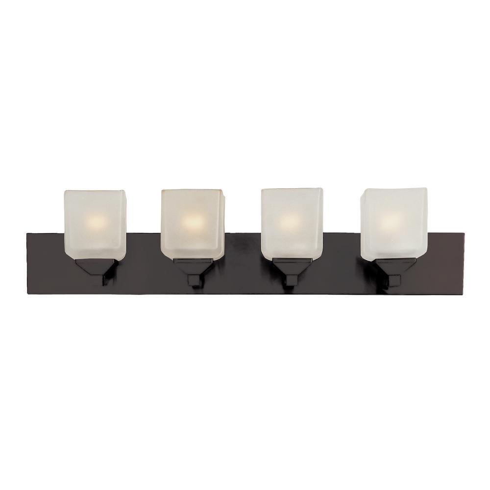 Edwards 4-Light Rubbed Oil Bronze Bath Light