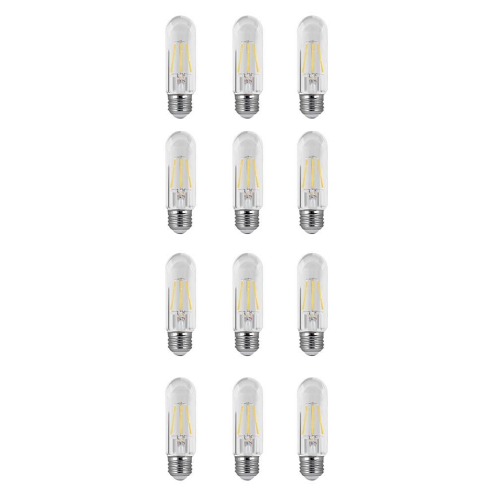 40W Equivalent Soft White (2700K) T10 Dimmable Filament LED Clear Glass