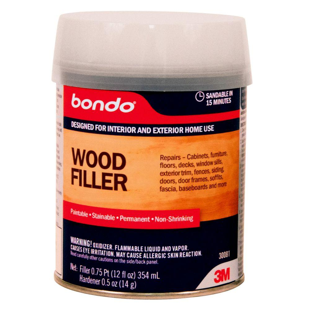 Bondo 12 fl. oz. Wood Filler (Case of 4)