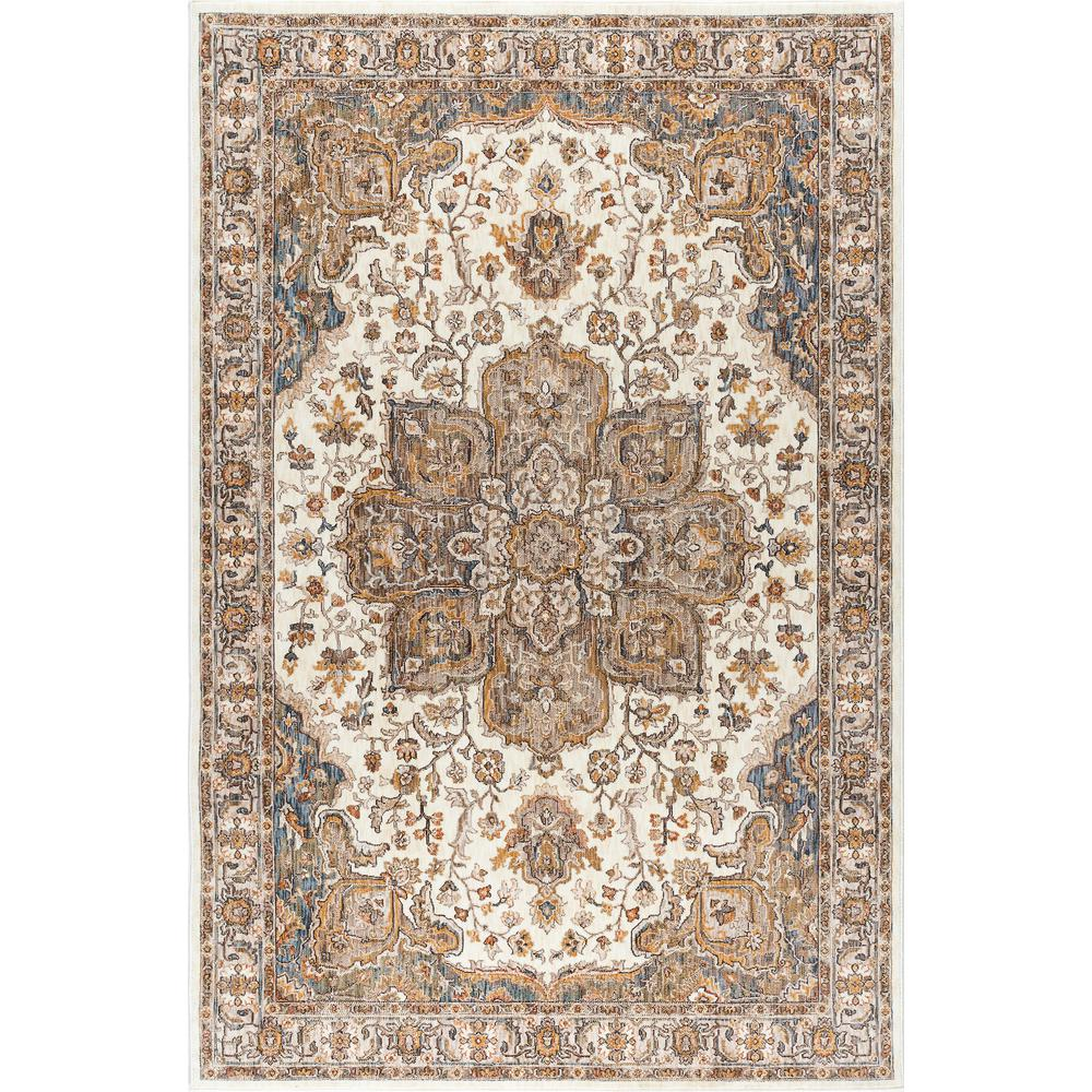 7x10 Rug: Tayse Rugs Fairview Ivory 6 Ft. 7 In. X 9 Ft. 6 In. Area