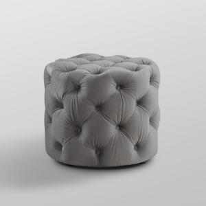 Superb Inspired Home Marianna Grey Velvet Tufted Allover Caraccident5 Cool Chair Designs And Ideas Caraccident5Info