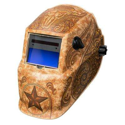 1.73 in. Variable Shade 9-13 Welding Helmet Lone Star with Grind Mode
