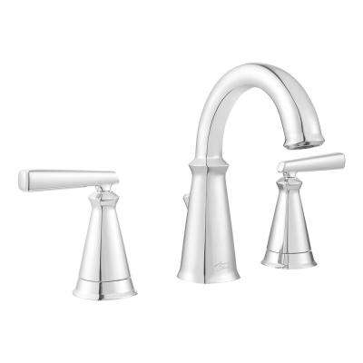 Edgemere 8 in. Widespread 2-Handle Bathroom Faucet with Metal Speed Connect Drain in Chrome