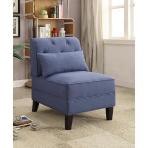 ACME Furniture Susanna Blue Accent Chair with Pillow by ACME Furniture