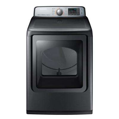 7.4 cu. ft. Gas Dryer with Steam in Platinum, ENERGY STAR
