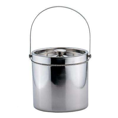 3.5 qt. Stainless Steel Double-Walled Large Ice Bucket
