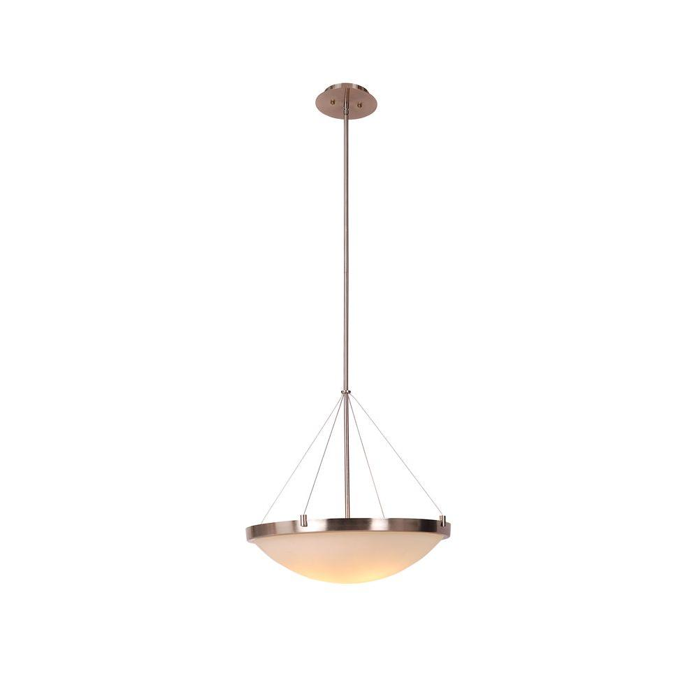 Design House Eastport 3-Light Satin Nickel Bowl Pendant