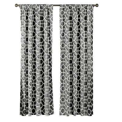 Semi-Opaque Lenox 100% Cotton Extra Wide 84 in. L Rod Pocket Curtain Panel Pair, Light Grey (Set of 2)