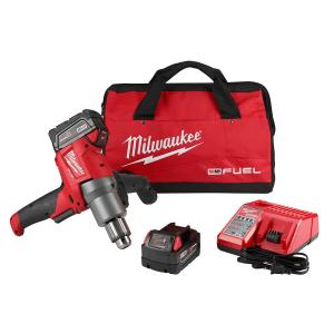 Milwaukee M18 FUEL 18-Volt Lithium-Ion Brushless 1/2 inch Cordless Mud Mixer Kit by Milwaukee