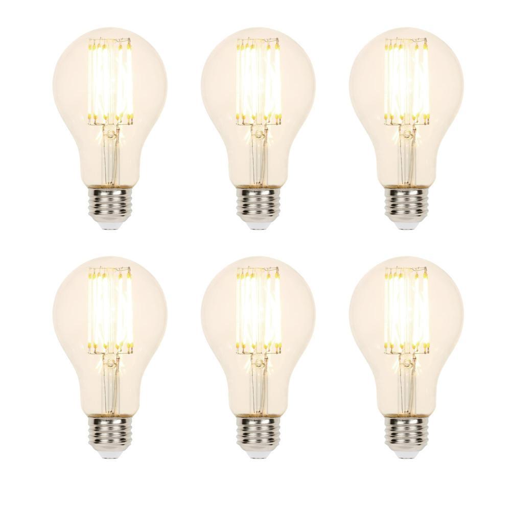 100-Watt Equivalent A21 Dimmable 2700K Filament LED Light Bulb (6-Pack)