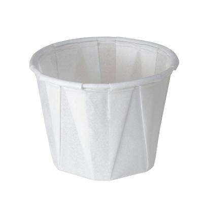 Treated Paper Souffle Portion Cups, 1 oz., White, 5000 Per Case