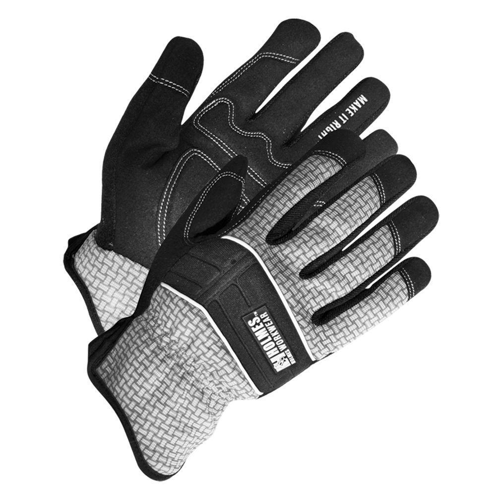 Holmes Workwear XL Size Grey Mechanics Glove with Reinforced Palm