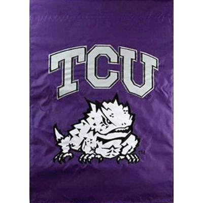 NCAA 12-1/2 in. x 18 in. Texas Christian 2-Sided Garden Flag
