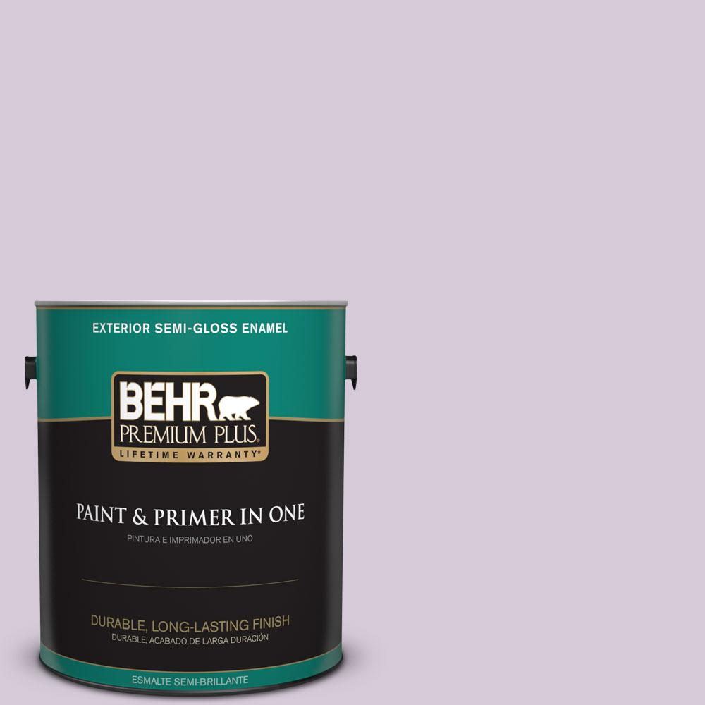 1-gal. #670C-3 Purple Cream Semi-Gloss Enamel Exterior Paint
