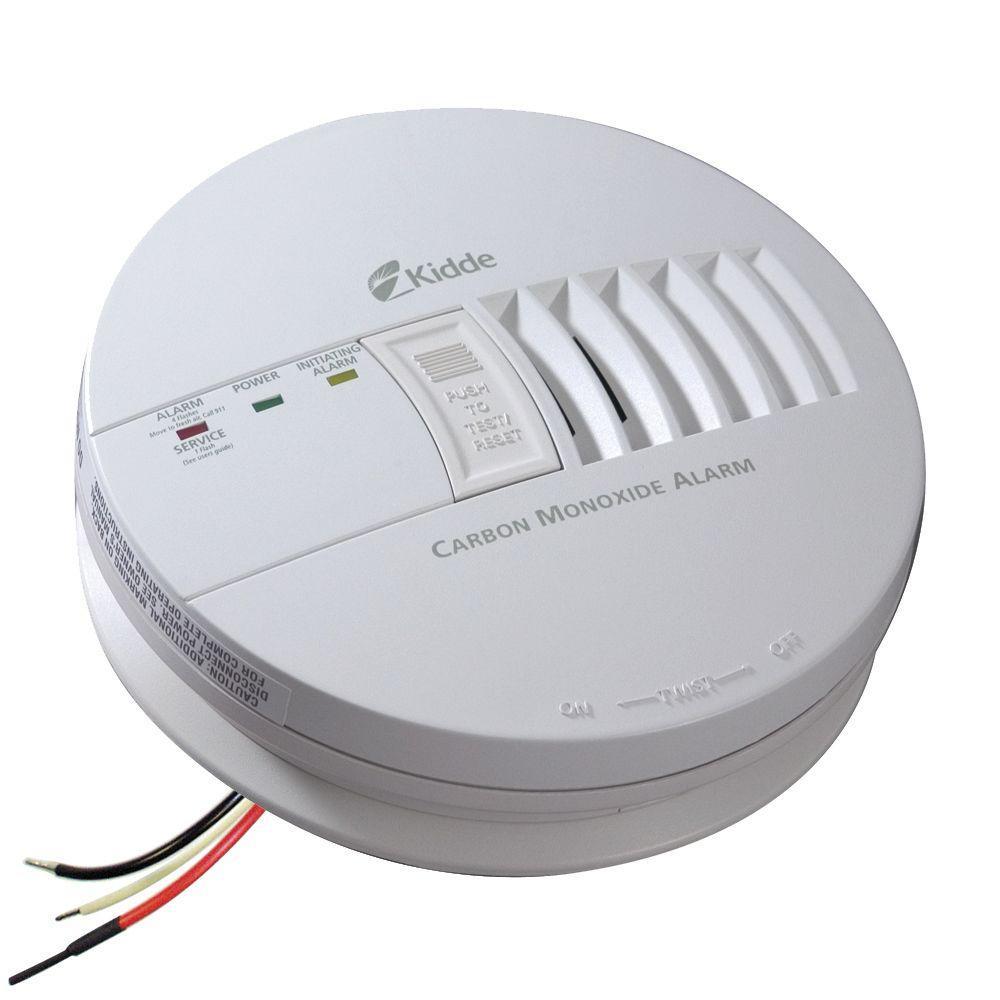 Kidde FireX Hardwire Carbon Monoxide Detector with 9-Volt Battery Backup