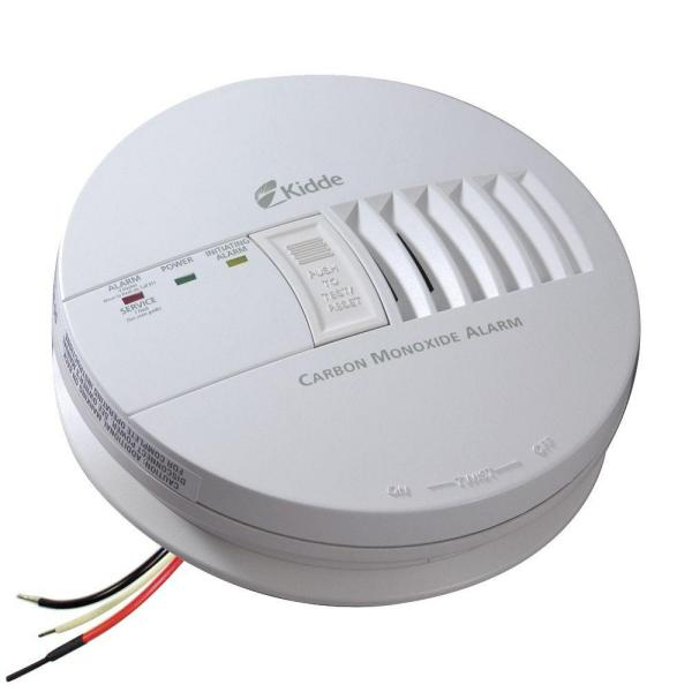 FireX Hardwire Carbon Monoxide Detector with 9-Volt Battery Backup