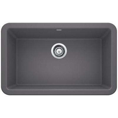 Ikon Apron Front Granite Composite 29 in. Single Bowl Kitchen Sink in Cinder