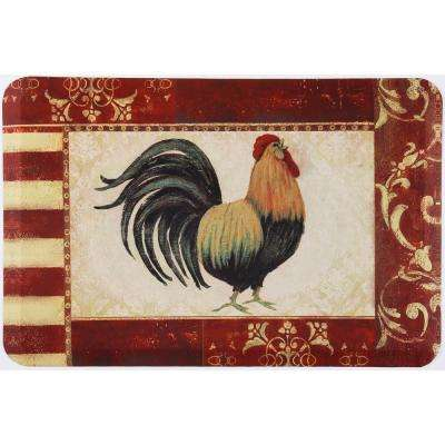 Designer Chef Rooster 24 In. X 36 In. Anti Fatigue Kitchen Mat
