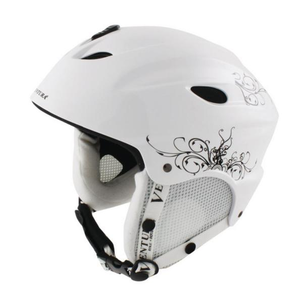 56-58 cm Skiing/Snowboarding Youth Helmet M in White