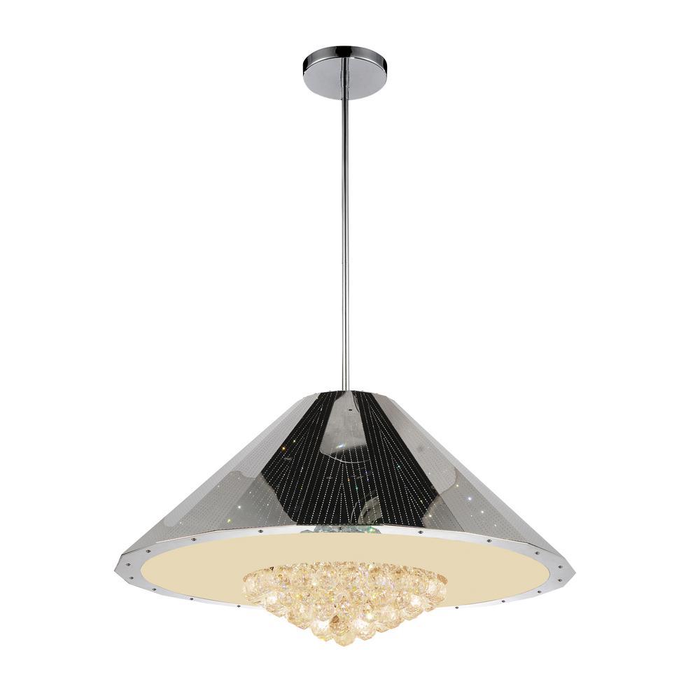 Yangtze 12-light chrome chandelier