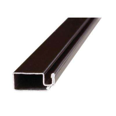 5/16 in. x 84 in. Brown Aluminum Screen Frame Piece