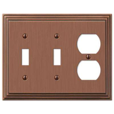 Steps 2 Toggle 1 Duplex Wall Plate - Antique Copper