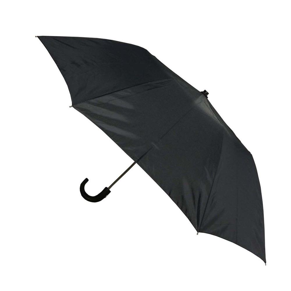 Kingstate 42 in. Arc Men's Auto Open Umbrella in Black