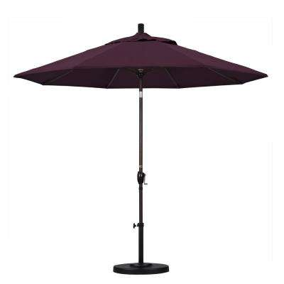 9 ft. Aluminum Push Tilt Patio Umbrella in Purple Pacifica