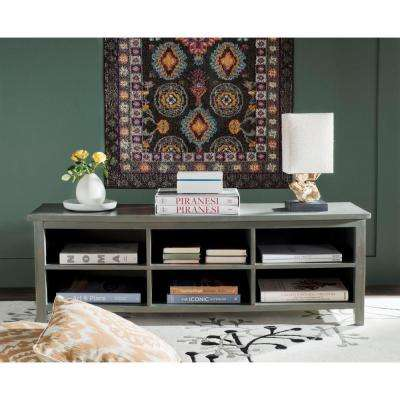 Sadie Ash Grey Open Bookcase