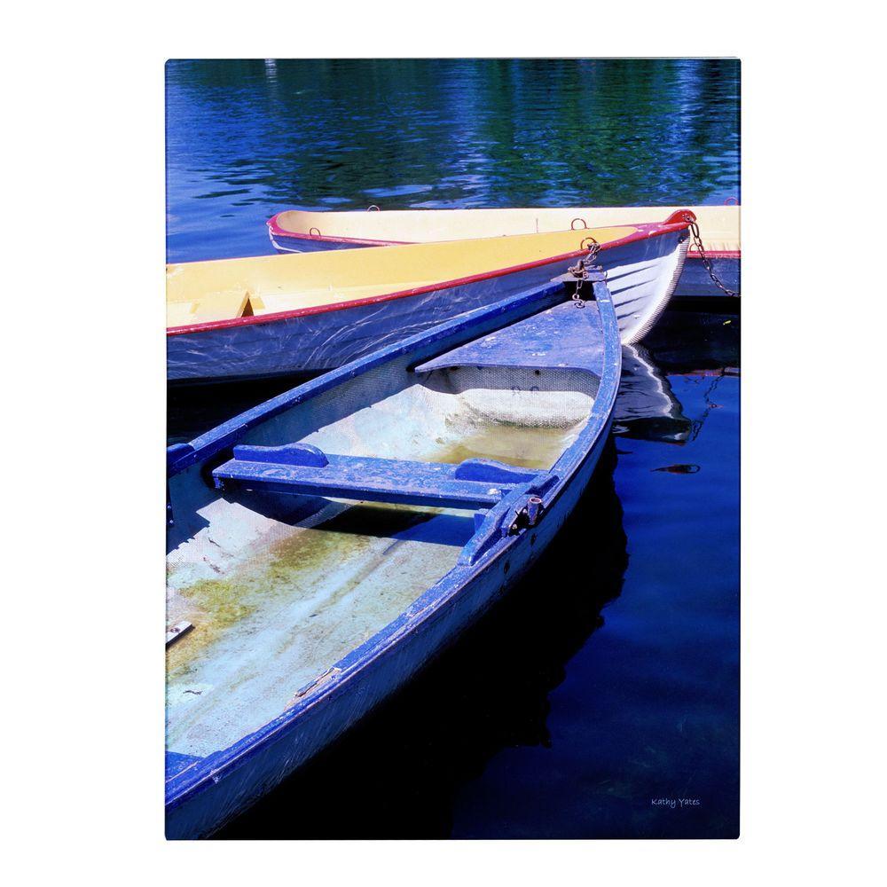 19 in. x 14 in. Bois De Boulogne Boats Canvas Art