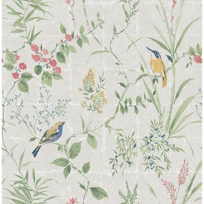 Imperial Grey Garden Chinoiserie Wallpaper