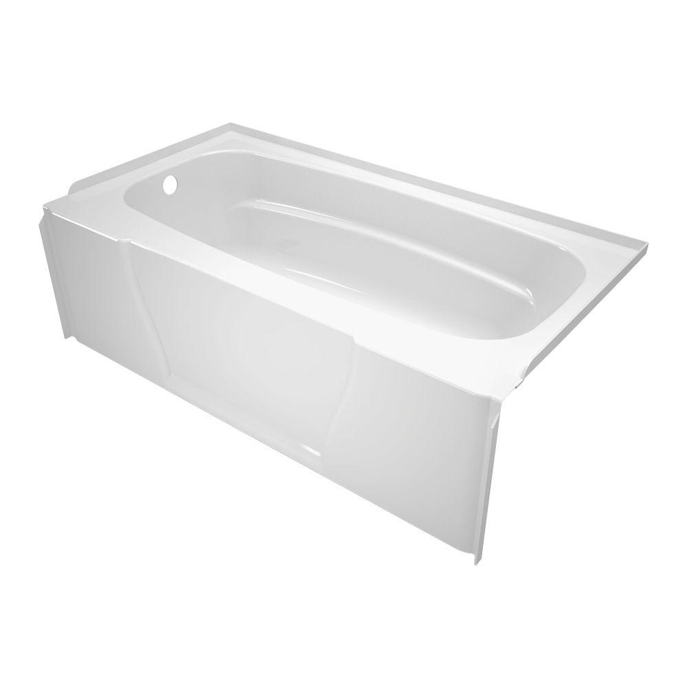 Firenze 5 ft. Left Hand Drain Bathtub in White