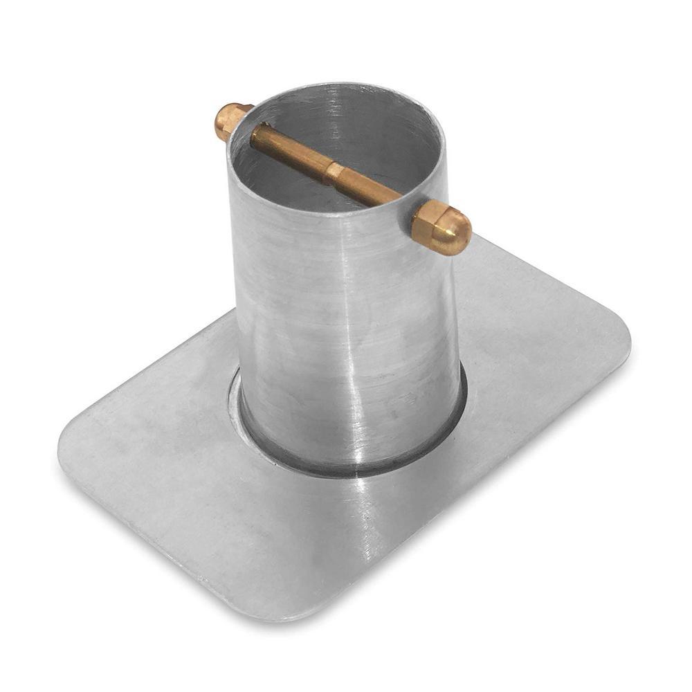 Monarch 2-Piece Aluminum Gutter Adapter with Brass Bolt, Mill Finish for Rain Chain Installation (Standard Gutters)