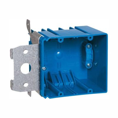 2-Gang 34 cu. in. Adjustable PVC Electrical Box with Side Clamp (Case of 16)