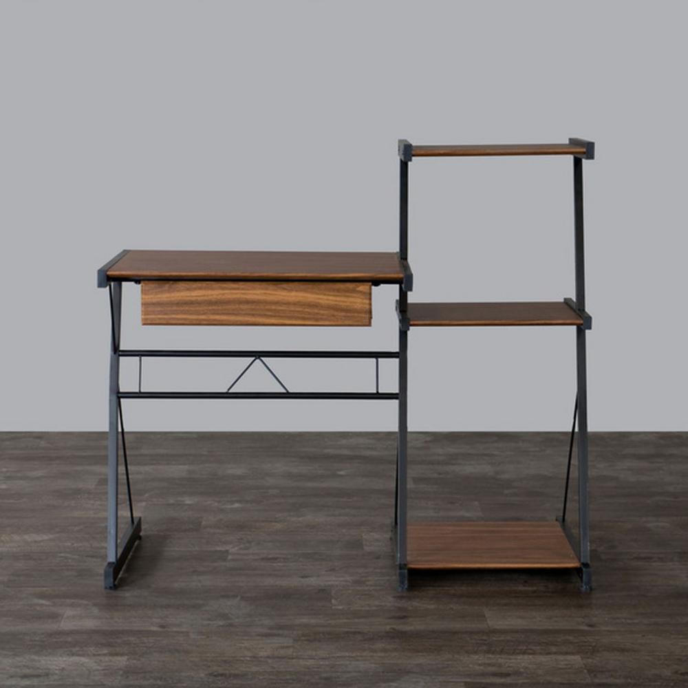 New Semester II Modern Medium Brown Finished Wood Desk