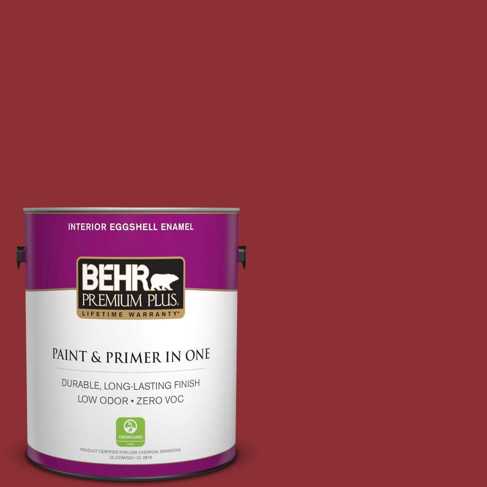 1-gal. #BXC-27 Carriage Red Eggshell Enamel Interior Paint
