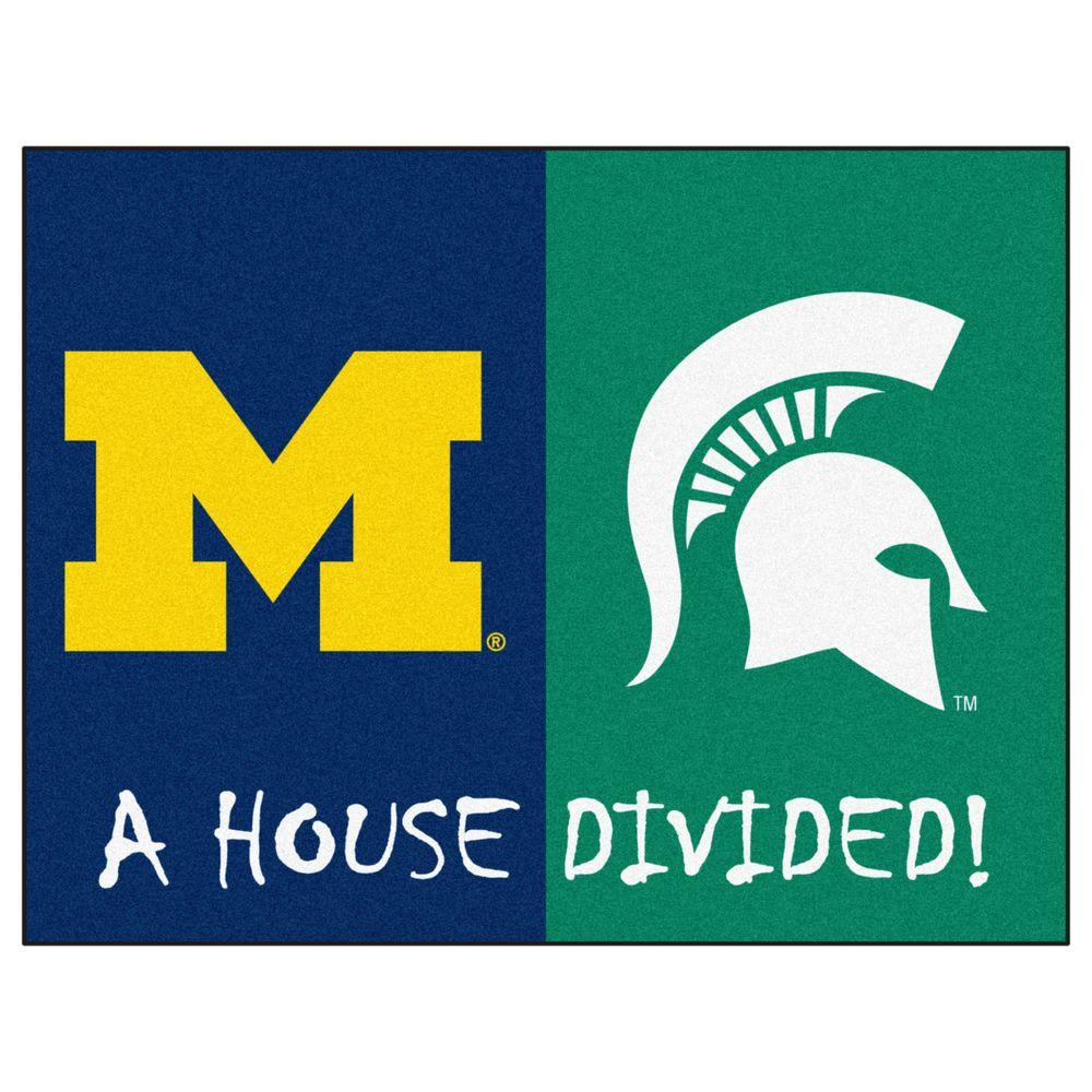 FANMATS NCAA Michigan/Michigan State House Divided 3 Ft. X 4 Ft. Area