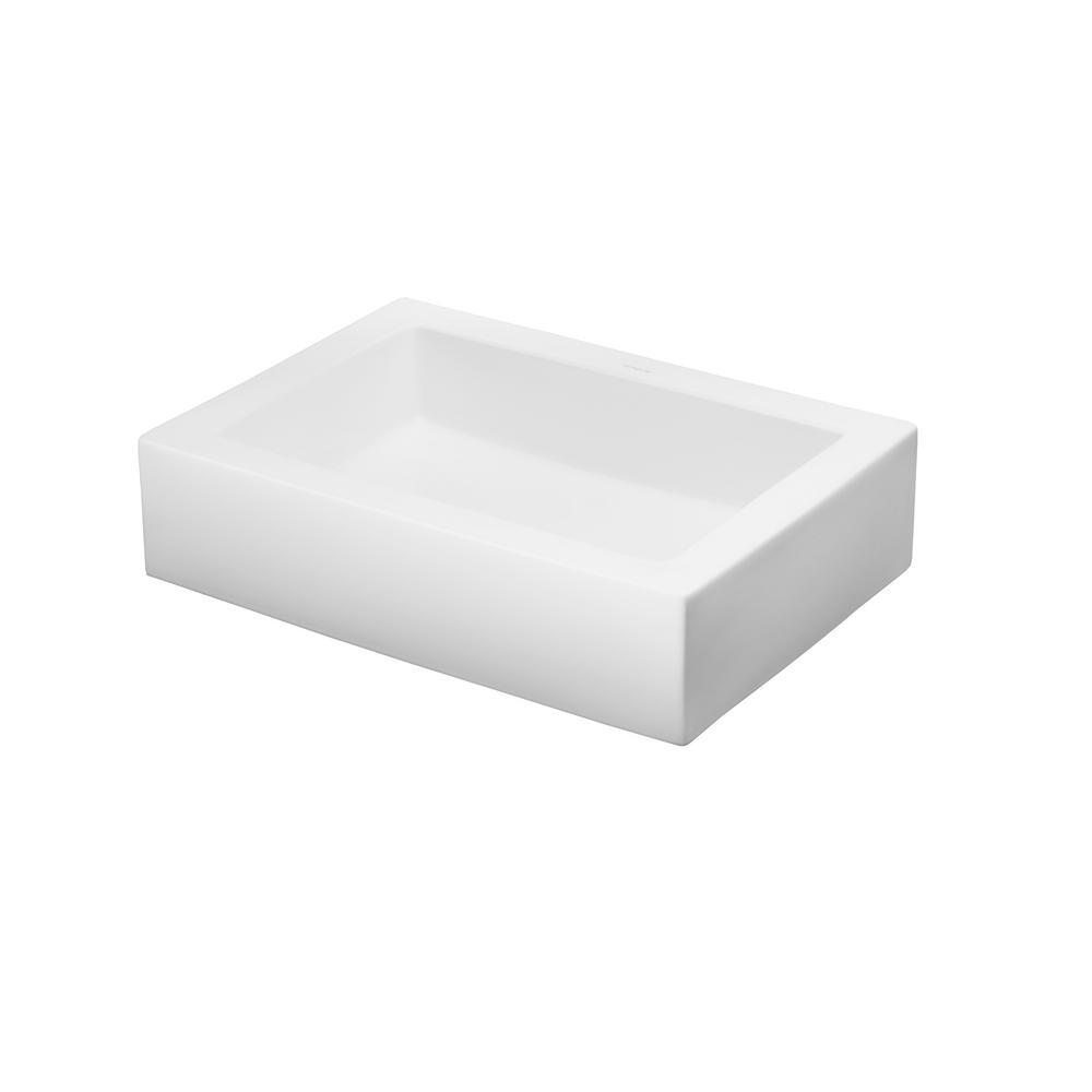 Ronbow Essentials Format Vessel Sink in White