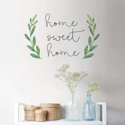 Green Home Sweet Home Wall Quote Decal