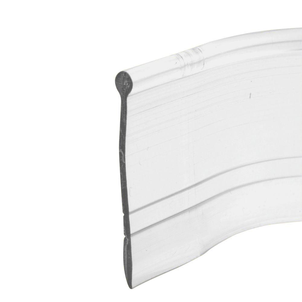 Prime Line 37 In Clear Vinyl Shower Door Bottom Seal M 6184 The