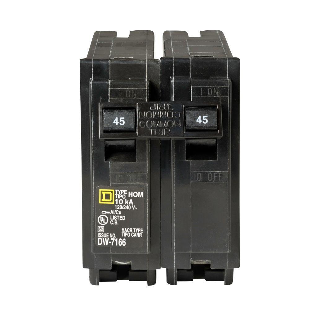 Square D Homeline 45 Amp 2-Pole Circuit Breaker