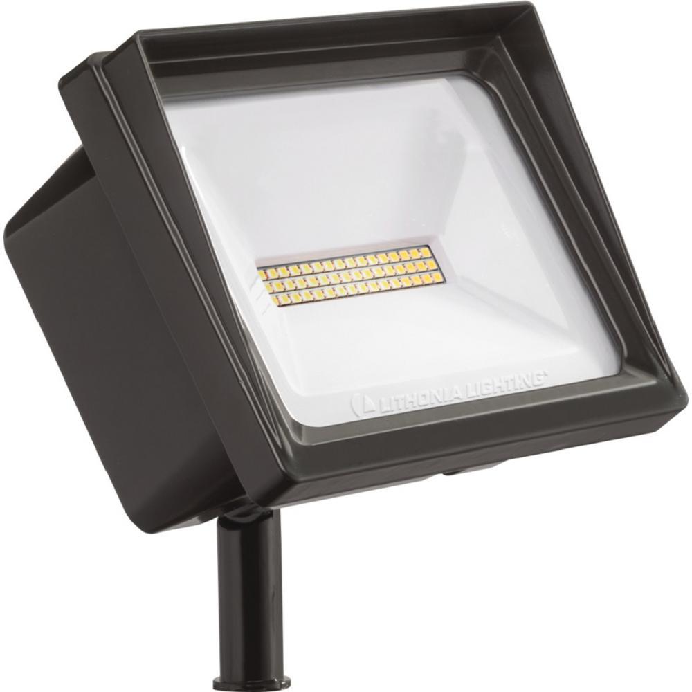 QTE 24-Watt Bronze Outdoor Integrated LED Flood Light